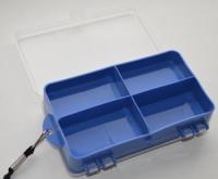 Коробка для рыболовных мелочей с ремешком (9 секций)