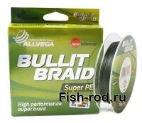 Плетеная леска ALLVEGA Bullit Braid super PE 0,12mm.