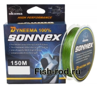 Плетеная леска OKUMA Dyneema SONNEX 0,14mm.