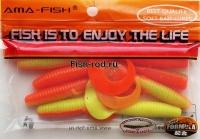 Силиконовая приманка Ama- fish W061 7.5 см. 0023