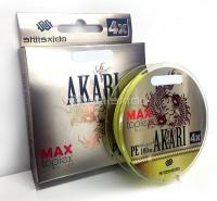 Шнур плетеный Shii Saido Akari 4X, L-150 м, d-0,128 мм, test-4,53 кг, yellow