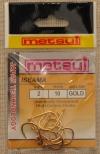 Крючки METSUI  ISEAMA Size 2. GOLD