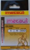 Крючки  METSUI  ISEAMA Size 6. GOLD
