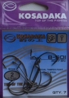 Офсетные крючки KOSADAKA B-SOI 3027 BN Size 2. 0,76mm.