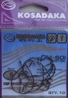 Офсетные крючки KOSADAKA B-SOI 3027 BN Size 6. 0,68mm.
