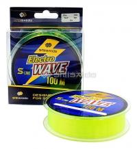 Леска Shii Saido Electro wave, L-100 м, d-0,128мм, test-1,29 кг, желтая