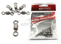 Вертлюг Namazu ROLLING RIBBED SWIVEL, латунь, цв. BN, р.2, test-43 кг (уп.10 шт)