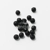 Бусина фидерная Namazu, PVC, d-5, черная (уп.20 шт.)