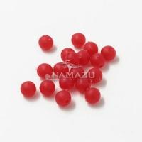 Бусина фидерная Namazu, PVC, d-5, красная (уп.20 шт.)