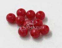 Бусина фидерная Namazu, пластик, d-5, красная (уп.20 шт.)