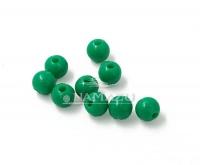 Бусина фидерная Namazu, пластик, d-5, зеленая (уп.20 шт.)
