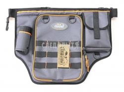 Сумка рыболовная поясная СЛЕДОПЫТ Fishing Belt Bag Light, 44х35х6 см, цв. серый + 1 коробка LUNO