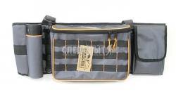 Сумка рыболовная поясная СЛЕДОПЫТ Fishing Belt Bag, 74х22х10 см, цв. серый + 2 коробки Luno